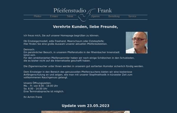 Vorschau von www.pfeifenstudio-frank.de, Pfeifenstudio Frank