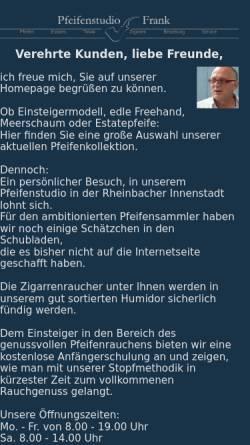Vorschau der mobilen Webseite www.pfeifenstudio-frank.de, Pfeifenstudio Frank