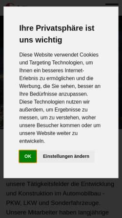 Vorschau der mobilen Webseite www.cadkonstruktion.net, CAD Konstruktion GbR, Rietberg