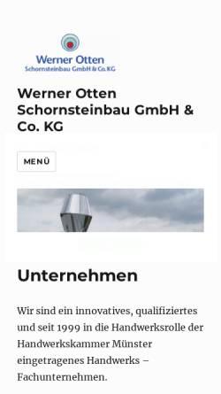 Vorschau der mobilen Webseite www.w-otten.de, Werner Otten Schornsteinbau