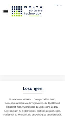 Vorschau der mobilen Webseite www.d-s-t-g.com, Delta Software Technology GmbH