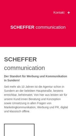 Vorschau der mobilen Webseite www.mkhoffe.de, MK Hoffe - Marketing und Kommunikation