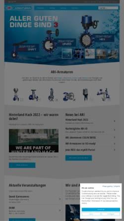 Vorschau der mobilen Webseite www.ari-armaturen.de, ARI Armaturen - Industriearmaturen