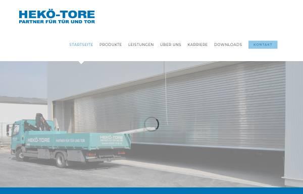 Vorschau von www.hekoe-tore.de, HEKÖ Tore