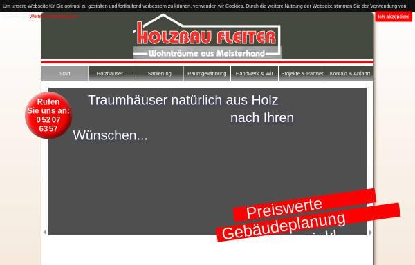 Vorschau von holzbau-fleiter.de, Holzbau Manfred Fleiter