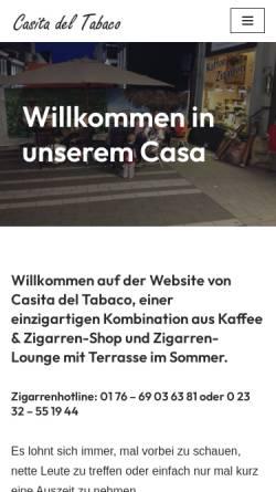 Vorschau der mobilen Webseite www.casitadeltabaco.de, Casita del Tabaco
