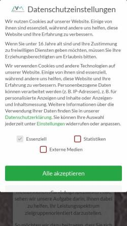 Vorschau der mobilen Webseite www.avvm.de, AVVM Werbung & Marketing GmbH