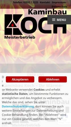 Vorschau der mobilen Webseite www.kaminbau-koch.de, Kaminbau Koch