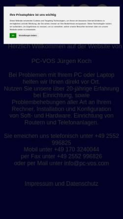 Vorschau der mobilen Webseite www.pc-vos.com, PC-VOS Jürgen Koch
