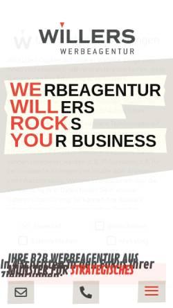 Vorschau der mobilen Webseite www.werbeagentur-willers.de, Werbeagentur Willers GmbH & Co. KG