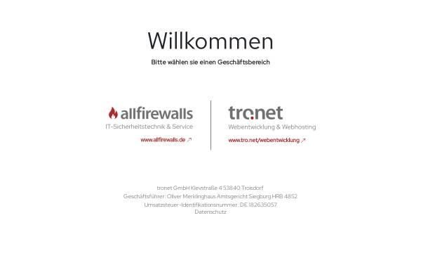Vorschau von www.tronet.de, Tro:Net Internet Systemhaus GmbH