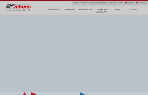 Vorschau von www.niehues-anlagenbau.de, Niehues Anlagenbau GmbH & Co KG