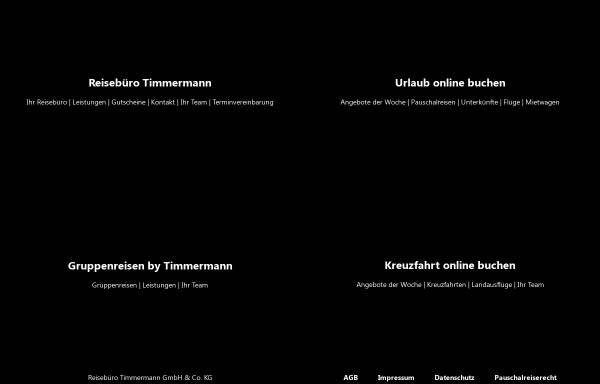 Vorschau von www.reisen-timmermann.de, Reisebüro Timmermann GmbH & Co. KG