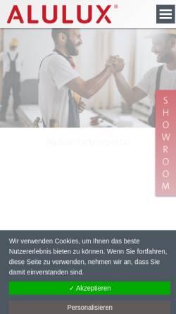 Vorschau der mobilen Webseite www.alulux.de, Alulux Beckhoff GmbH & Co. KG