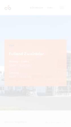 Vorschau der mobilen Webseite www.fulland-bikes.de, Fulland Zweiräder