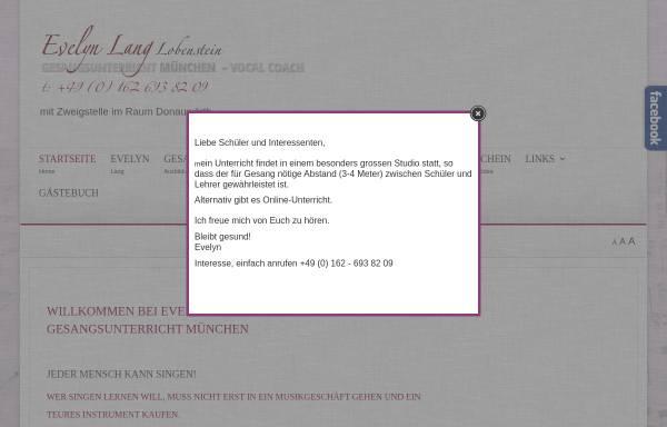 Vorschau von www.gesangsunterricht-muenchen.de, Lang, Evelyn