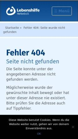 Vorschau der mobilen Webseite www.lebenshilfe-herford.de, Metallservice Vlotho gGmbH