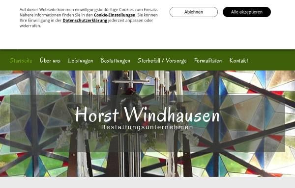 Vorschau von www.bestattungen-windhausen.de, Bestattungen Windhausen Viersen