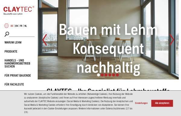 Vorschau von www.claytec.de, CLAYTEC e. K.