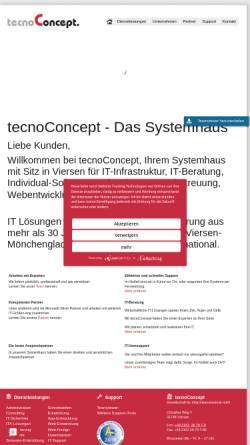 Vorschau der mobilen Webseite www.tecnoconcept.de, TecnoConcept GmbH