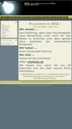 Vorschau der mobilen Webseite www.bisk.de, Büro- und Immobilienservice Kleffmann