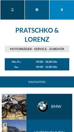 Vorschau der mobilen Webseite www.pratschko-lorenz.de, Pratschko & Lorenz GmbH