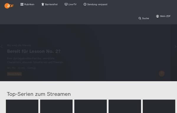 Vorschau von www.zdf.de, ZDFmediathek