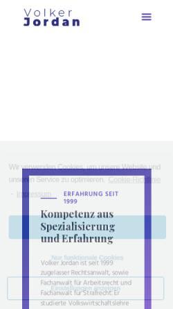 Vorschau der mobilen Webseite www.anwaltskanzlei-jordan.de, Anwaltskanzlei Jordan