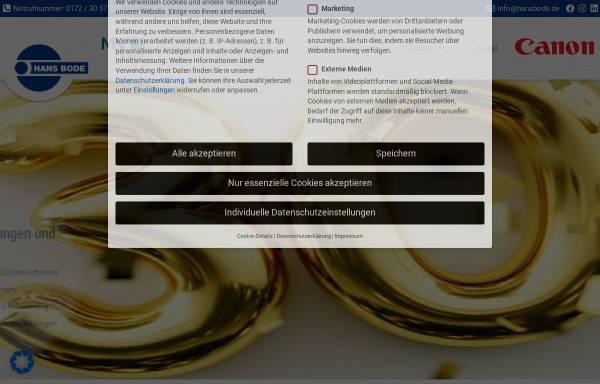 Vorschau von www.hansbode.de, Hans Bode Innovative Büroelektronik GmbH