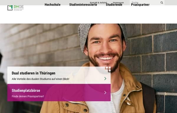 Vorschau von www.dhge.de, Berufsakademie Eisenach