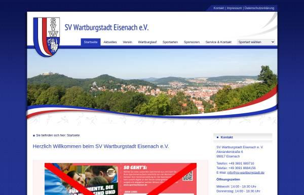 Vorschau von www.sv-wartburgstadt.de, SV Wartburgstadt Eisenach e.V.