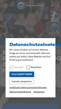 Vorschau der mobilen Webseite www.thsv-eisenach.de, ThSV Eisenach e.V.