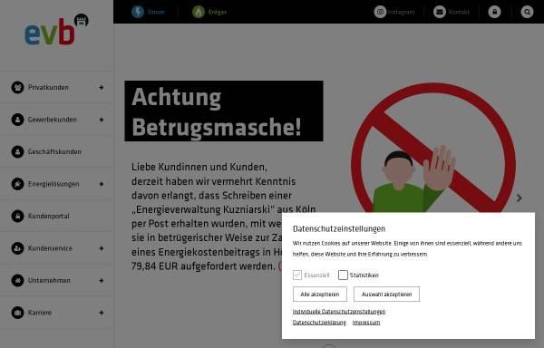 Vorschau von www.evb-energy.de, Eisenacher Versorgungs-Betriebe GmbH