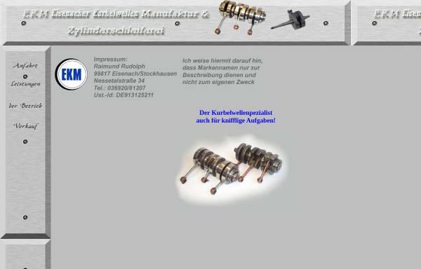 Vorschau von www.ebenheim.de, EKM Eisenacher Kurbelwellen Manufaktur und Zylinderschleiferei