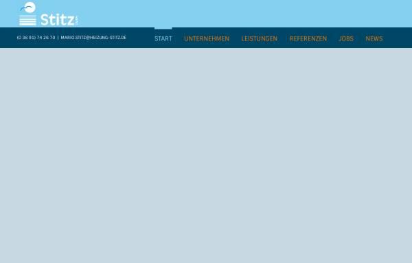Vorschau von www.heizung-stitz.de, Heizungs- und Sanitärbetrieb Mario Stitz
