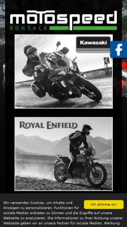 Vorschau der mobilen Webseite www.motospeed-bonsack.de, Motospeed Bonsack