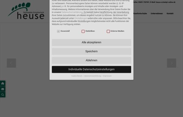 Vorschau von www.heuse-schuh.de, Orthopädie-Schuhtechnik Heuse