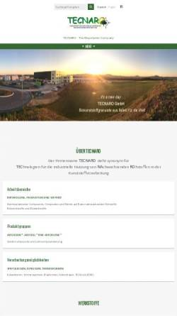 Vorschau der mobilen Webseite www.tecnaro.de, TECNARO GmbH