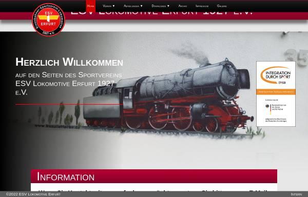 Vorschau von www.esv-lok-erfurt1927.de, Eisenbahner-Sportverein-Lokomotive 1927 e.V. (ESV)