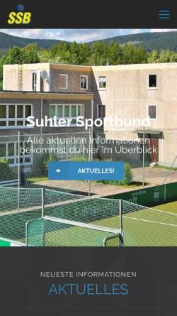 Vorschau der mobilen Webseite www.suhler-sportbund.com, Suhler Sportbund e. V.