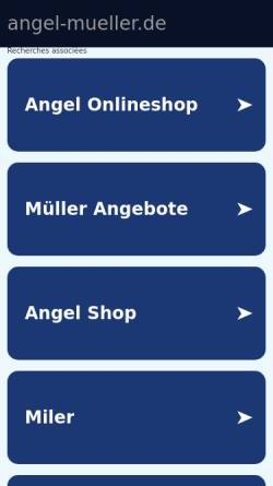 Vorschau der mobilen Webseite www.angel-mueller.de, Angel Müller