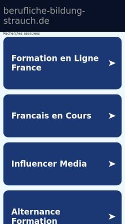Vorschau der mobilen Webseite www.berufliche-bildung-strauch.de, Berufliche Bildung Strauch