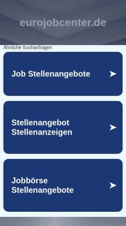 Vorschau der mobilen Webseite www.eurojobcenter.de, EuroJobCenter Thüringen Ltd.