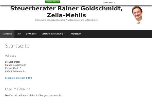 Vorschau von goldsteuer.de, Steuerberater Rainer Goldschmidt