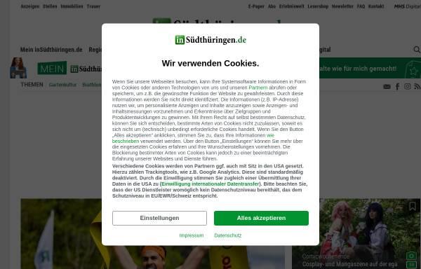 Vorschau von www.insuedthueringen.de, Suhler Verlagsgesellschaft mbH & Co. KG