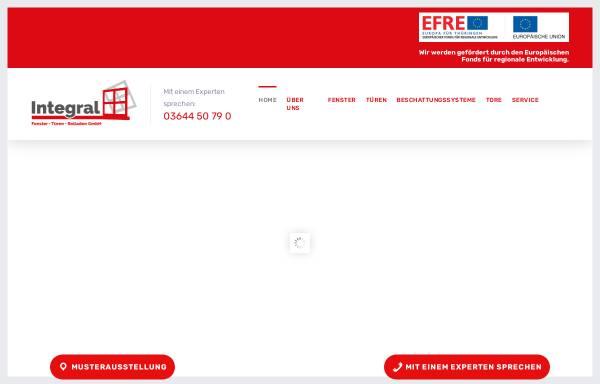 Vorschau von www.integral-apolda.de, Integral Fenster Türen Rolladen GmbH Apolda