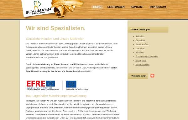 Tischlerei Schumann Bauwesen Wirtschaft Tischler Meistercom