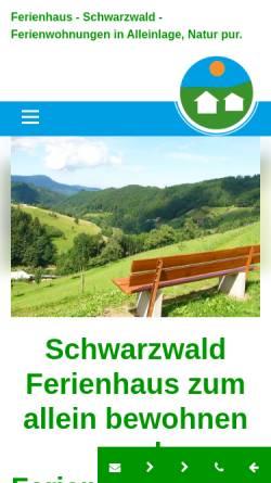 Vorschau der mobilen Webseite www.muellerbauernhof.de, Ferienhaus Müllerbauernhof