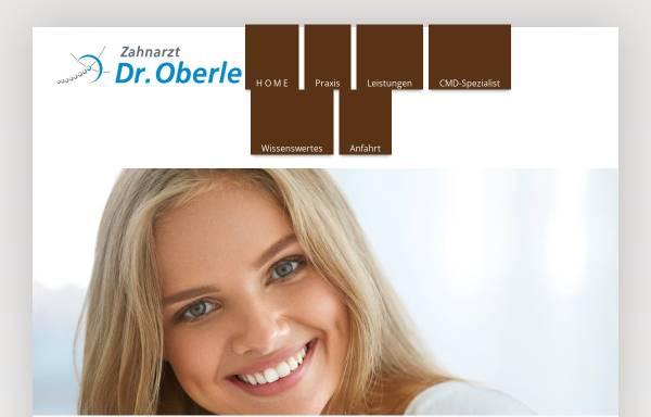 Vorschau von www.zahnarzt-oberle.de, Zahnarzt, Dr.med.dent. A. Oberle