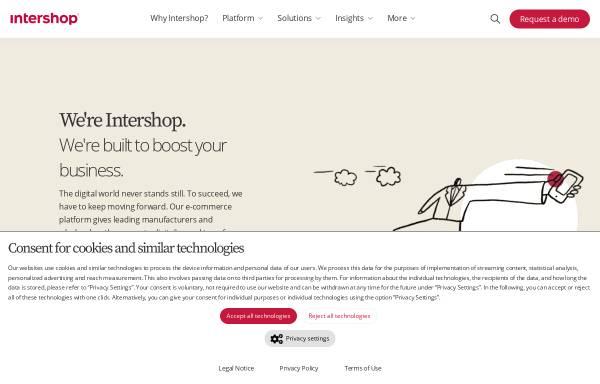 Vorschau von www.intershop.de, Intershop Communications AG